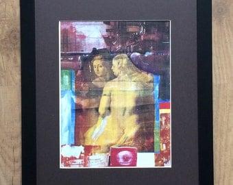 "Framed and Mounted Persimmon by Robert Rauschenberg  - 16"" x 12"" - Pop Art"