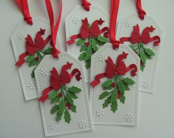 Holly Christmas Gift Tags, Christmas Tags, Christmas Gift Tags, Christmas Decorations, Holiday Gift Tags, Holly Gift Tags ,Holly Tags, Holly
