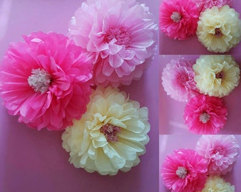 "one  14inch"" flower wedding party babyshower bedroom wall flowers ( i can do these in any colours)"