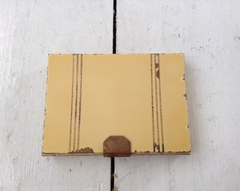 1930's Enamel Vanity Compact and Cigarette Case with Beveled Mirror