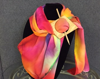 Colormix - hand painted silk scarf by Tonya Butcher