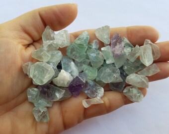 Fluorite Crystal Stones, Raw Mineral Stones, Jewelry Supplies, Small Semi Precious Mineral Stones, Fluorite Crystals, Rough Natural Stones