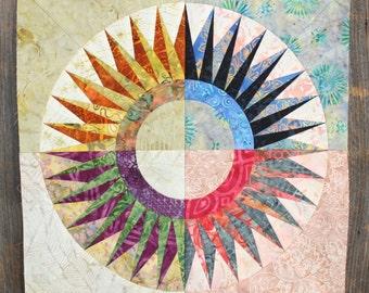 New York Beauty Quilt Block Paper Piecing Pattern - Block 1