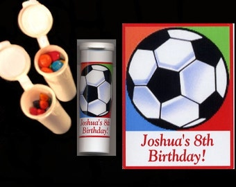 10 Soccer stickers plus 10 candy/crayon tubes favors