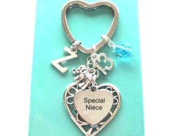Special Niece gift - 13th birthday gift for niece - Niece keyring - Elephant keychain - Birthstone keyring for niece - Niece 13th - Etsy UK
