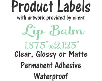 Lip Balm Labels, Waterproof, tube labels, your artwork provided, vinyl stickers waterproof eco-solvent ink, business sticker, branding label