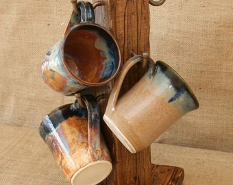 Distressed To Impress! Rustic 6 Cup Coffee Mug Stand