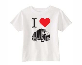 "Kids' LEECH DEPT. - ""I Heart"" Garbage Truck T-Shirt & more colors"