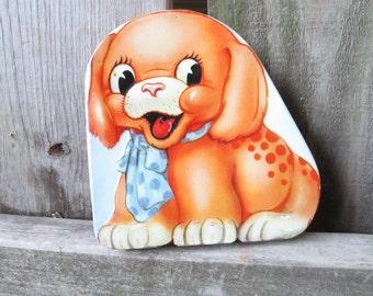 Vintage Puppy Dog Tin Baret Ware  Made in England