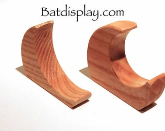 Baseball Bat Display Holder Bracket Wall Mounts.  MADE in the USA