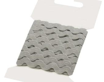 GREY Ric Rac Ribbon Decorative Trim - 5 mm x 3 Metres