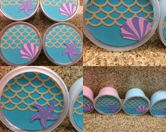Little mermaid cotton candy favors / mermaid party favors