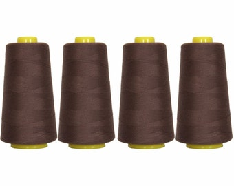 4 Big Cones Expresso Serger Sewing Thread 2750 Yd Tex 27 40s2 - Threadart