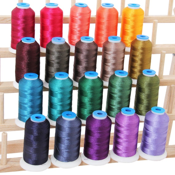 Polyester machine embroidery thread set dark colors m