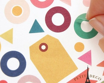Petit Deco Sticker _ basic - deco paper sticker 8 sheets, diary, index, scrap, card, gift / 10GM30