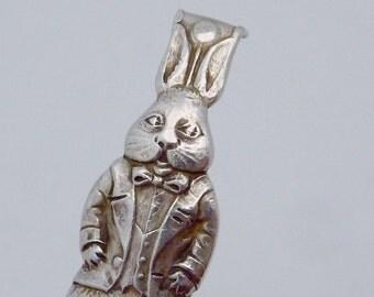 Antique Vintage Sterling Silver Rabbit Bunny Broken Part for Repurpose 22623