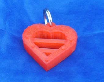 3D printed heart pendant keychain