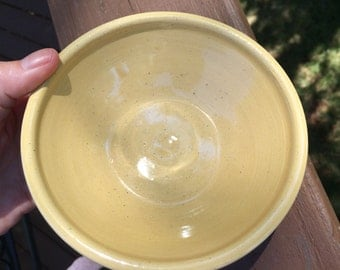 Yellow Pottery Ceramic Bowl, small
