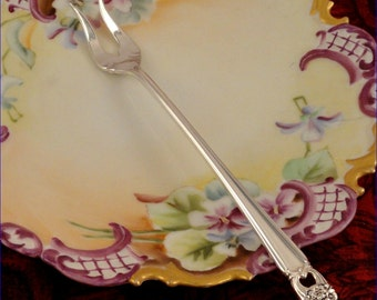 ETERNALLY YOURS 2 prong Pickle Olive Fork 1847 Rogers Bros Vintage 1941 SilverPlate Flatware Fork International Silver IS