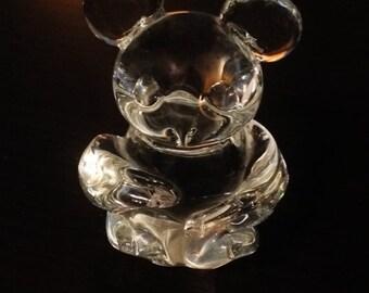 ON SALE - Vintage Lead Crystal Mouse