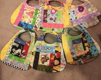 Quilted and Applique baby bibs