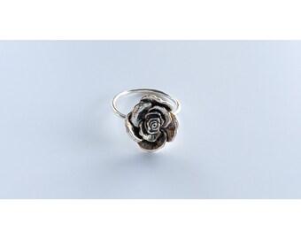 Rose Ring - Sterling Silver - Flower Ring - Silver Rings - Sterling Rings