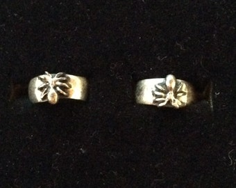 Vintage Sterling Silver Spider Adjustable Ring