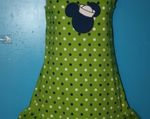 Girls Mickey Mouse Silhouette t-shirt tank dress, Mickey Mouse sailor dress, Minnie Mouse dress, size 14, approximately (32 inches long)