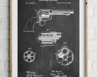 US Firearms Single Action Army Revolver Patent Poster, Army Poster, Hand Gun, Pistol, Gun Lover Gift, Firearm, Gun Poster, PP1119