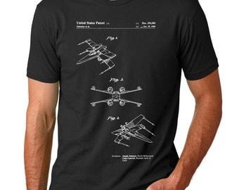 Star Wars X Wing Patent T Shirt, Star Wars Ships, Star Wars Shirt, Star Wars T Shirt, Starwars Gift, Starwars Shirt, PP1060