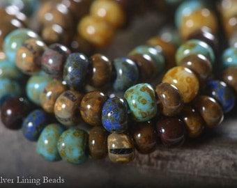 Caribbean Relics (25) - Czech Striped Seed Bead Mix - 2/0-3/0