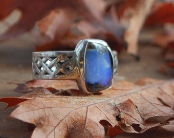 Sterling Silver Ring with Koroit Opal