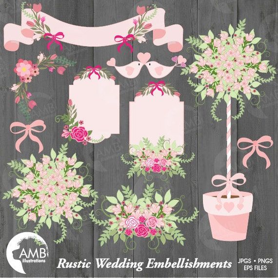 Wedding Clipart Rustic Bridal Shower