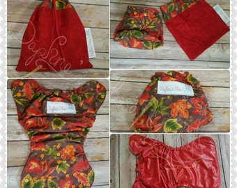 Autumn Leaves OS Diaper Cover