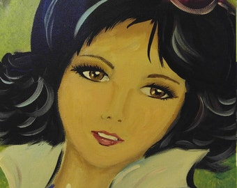 Fairest of them all / 16x20 acrylic on canvas / Snow White / Original artwork by Moshe Guilaran
