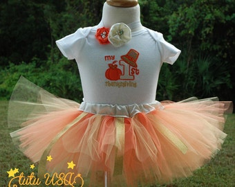 1st Thanksgiving Outfit Girl, Girls 1st Thanksgiving Shirt,Fun Pilgrim Thanksgiving Outfit, Baby Girl 1st Thanksgiving Outfit,Newborn Outfit