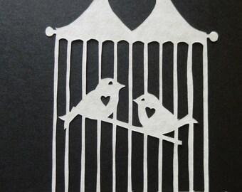 Love Birds Scherenschnitte