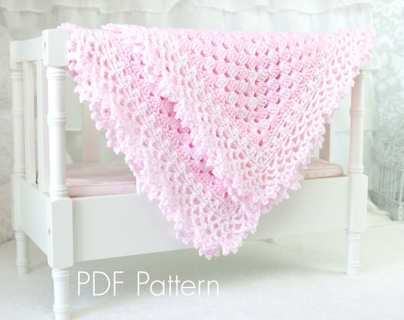 Crochet PATTERN 143 Freesia Baby Blanket PATTERN 143