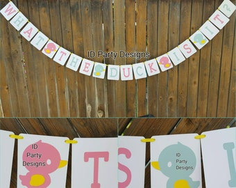 WHAT THE DUCK Gender Reveal Duck - Waddle it be? Boy Or Girl?