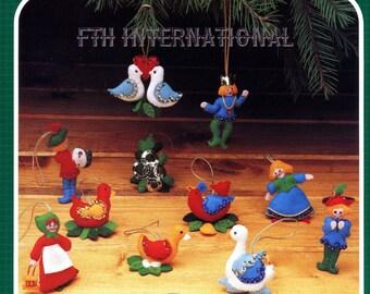 Bucilla Twelve Days of Christmas ~ 12 Pce. Felt Ornament Kit #48997 DIY