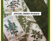 SPECIAL ORDER LISTING for Kimberly - Herb Garden potholder