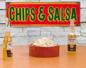 Chips and Salsa Mexican Restaurant Metal Sign - #60650