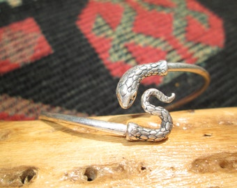 Sterling Snake Wrap-Around Bracelet