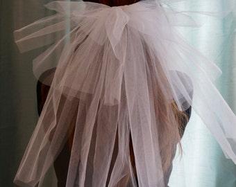Bachelorette veil, Bridal shower, White Veil