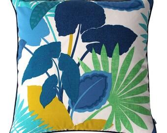 BLUE TROPICS Euro Outdoor Cushion Pillow | 62cm | 24 inch Square