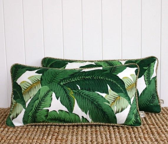 vert palmiers ext rieur lombaire coussin housse de coussin. Black Bedroom Furniture Sets. Home Design Ideas