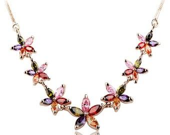 Crystal Flowers Pendant