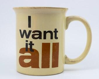 I Want It All 1989 Queen Music Ltd Freddie Mercury Roger Taylor John Deacon Mug Distressed