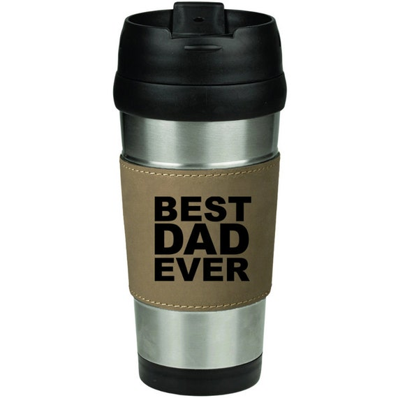 16 Oz Stainless Steel Amp Leather Insulated Travel Mug Coffee