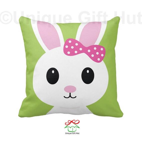 Cute Bunny Pillow : Items similar to Cute Bunny Pillow-Throw Pillow-Pillow Cover-Home Decor-Kawaii Decorative Pillow ...